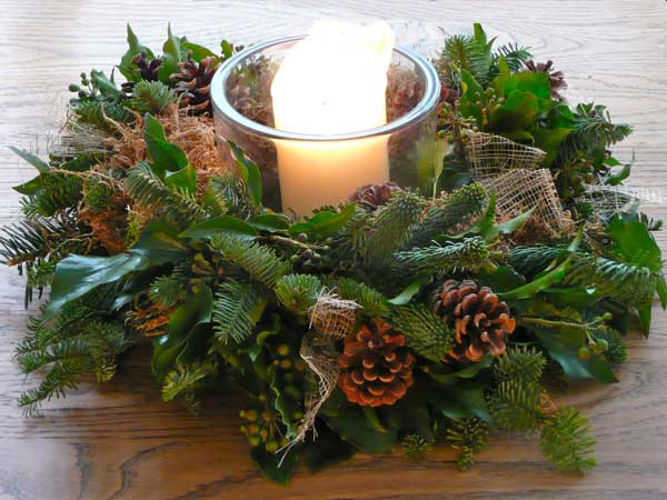 Home Accents Flowers Christmas Candle Ring