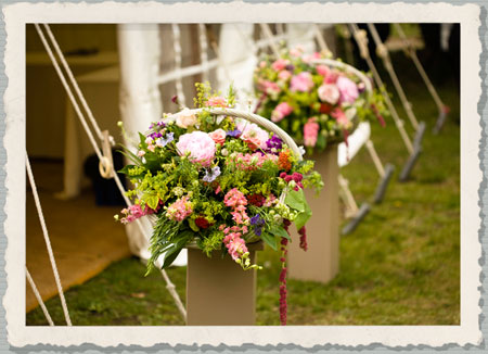 marquee wedding flowers, wedding flowers marquee, country wedding flowers