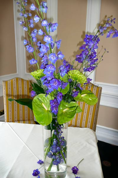 civil ceremony flowers, blue wedding flowers