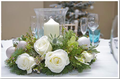 chritmas wedding flowers