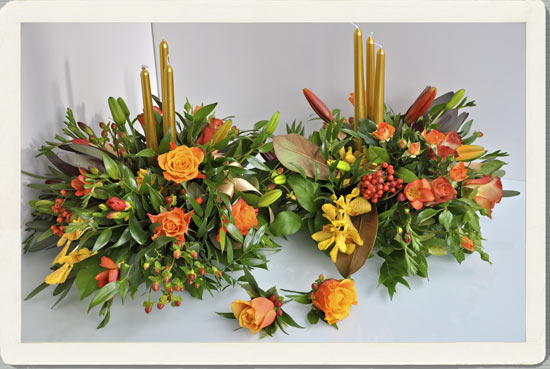 November Wedding Flowers Can Be Colourful And And Memorable