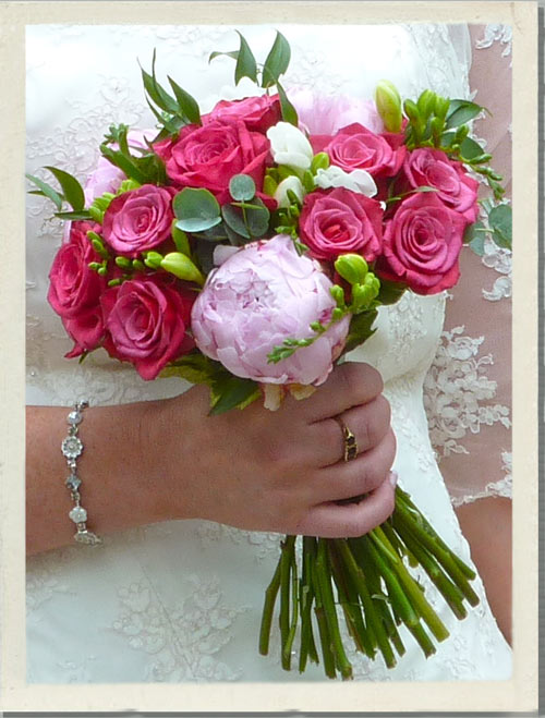 pink wedding flowers, scented wedding flowers
