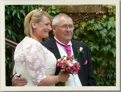 pink wedding flowers, scented wedding flowers