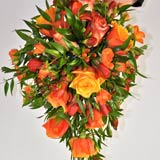 orange wedding flowers, november wedding flowers