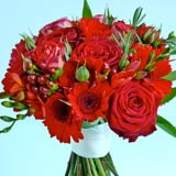 wedding flower bouquets, red wedding flowers