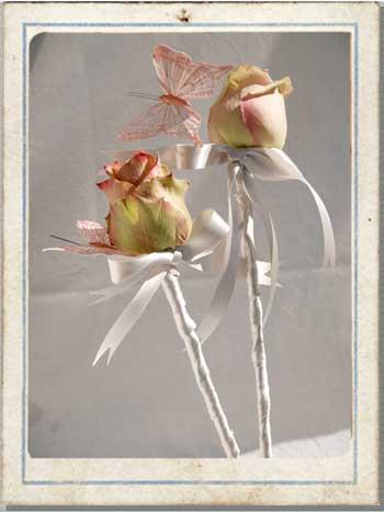 flower wands, wedding flower wands, wedding flower arrangements