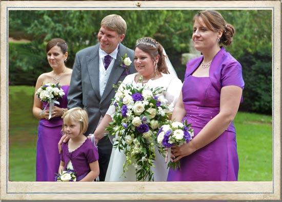 trailing wedding flowers