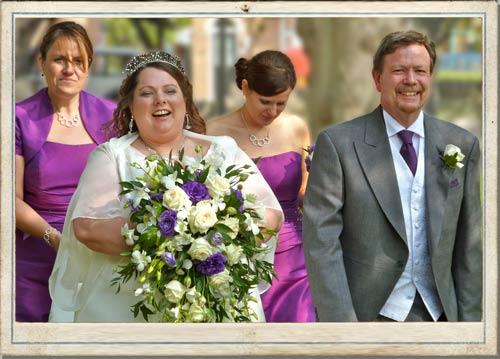 trailing wedding bouquets, shower bouquets, purple wedding flowers