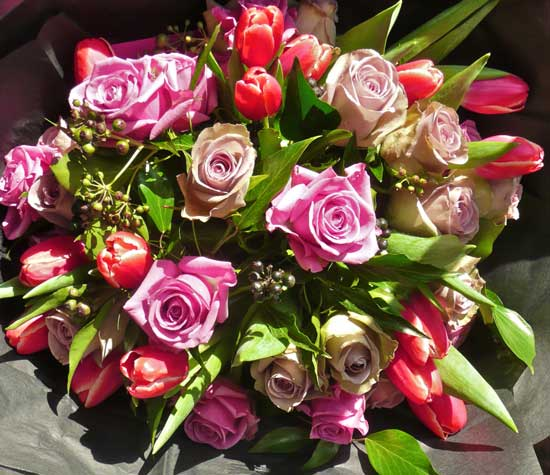 vaalentines day flowers, valentine flowers, valentines cotswolds
