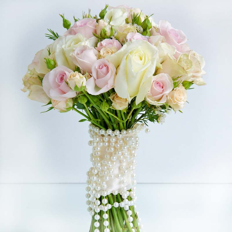 april Bridal flower bouquets, Bridal flower bouquets with pearls