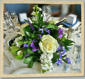 blue wedding flowers, oxfordshire wedding flowers