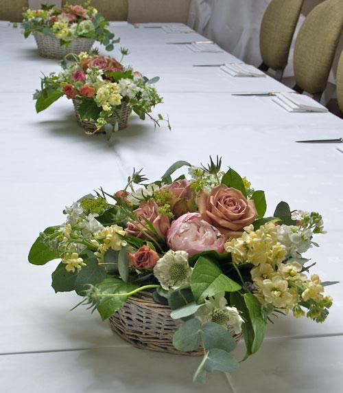 wedding flower ideas, table decoration flowers, wedding flowers evesham