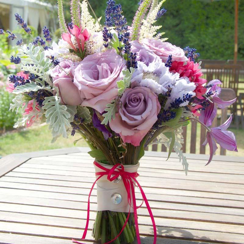 july Bridal flower bouquets